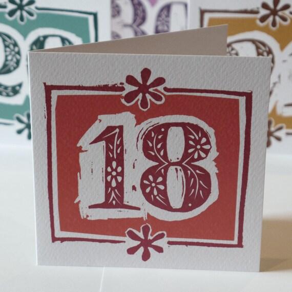 18th Birthday Card Or Garnet Wedding Anniversary Card Etsy