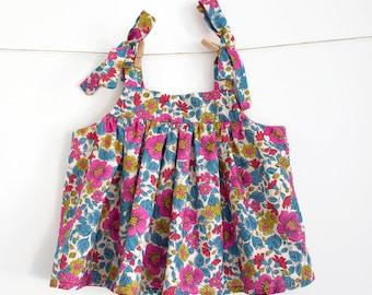 Baby Top Pattern PDF Sewing Pattern – Instant download – Ties on shoulders — Romper top or Dress option