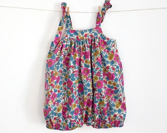 Baby Romper Pattern PDF Sewing Pattern – Instant download – Ties on shoulders — Top or Dress option