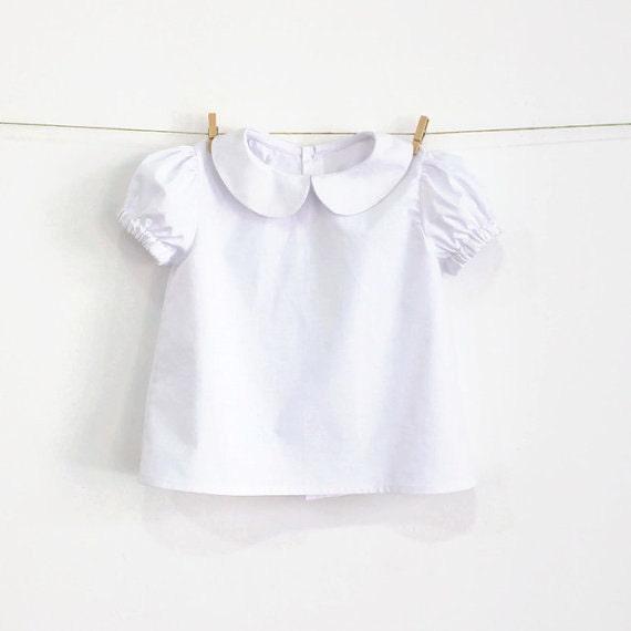 Baby-Peter-Pan-Kragen-Bluse mit | Etsy
