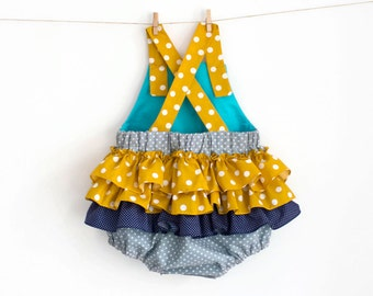 Baby Ruffled Romper Pattern PDF Sewing Pattern – Instant download