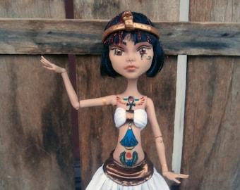 OOAK Monster High custom doll tattooed Egyptian Goddess