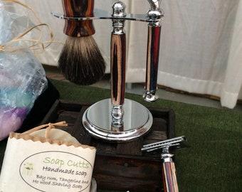 Bay Rum, Tangerine and Ho wood Shaving Soap