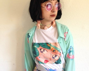 Sailor Neptune/sailor moon tee