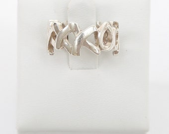 ac3c9f7a0 TIFFANY & CO. Sterling Silver GRAFITTI Love Kisses Band Ring Paloma Piccaso  7.25