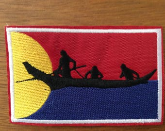 Patch flag Clatsop - Native American - Oregon - Pacific Northwest - Tillamook People - Nehalem