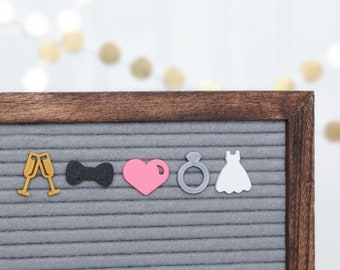 Custom Wedding Date Letter Board Ornament  letter board accessories  wedding decor  Valentine\u2019s Day gift  engagement gifts