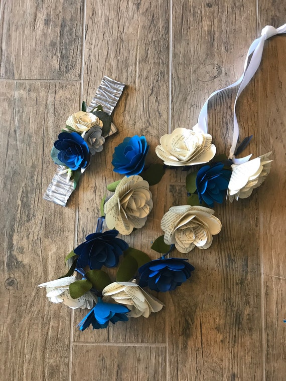 Customizable paper flower lei book rose lei mightylinksfo