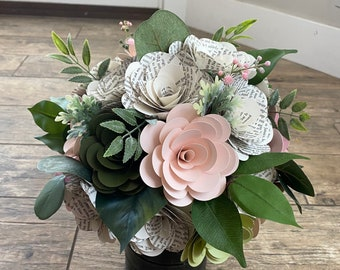 Custom Book and Color Rose Bouquet, Wedding Bouquet