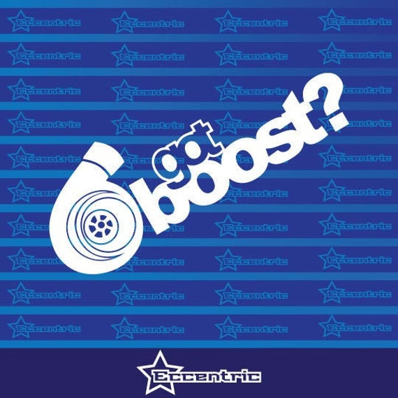 Boosted Sticker Die Cut Decal jdm turbo