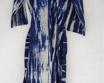 d2dad014d3 Indigo dyed kimono cardigan, Cotton Kimono Robe, Bridal Robe, Kimono Robe, Beach  Cover-up, Bridesmaid Robe, Cotton robe, bath robe