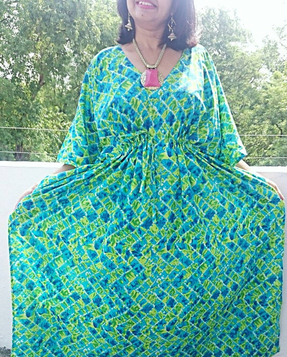 Plus size clothing, Plus size kaftan, Plus size dress, Plus size kaftan  dress, Indian batik robe, Bridal Robe, Batik Robe, Bridesmaid Robes