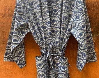 Robes for women, Cotton kimono robe,  Handmade Cover up Bath Robes, Beach Wear Dress, Gift for her ,Sleepwear, unisex, bath robe