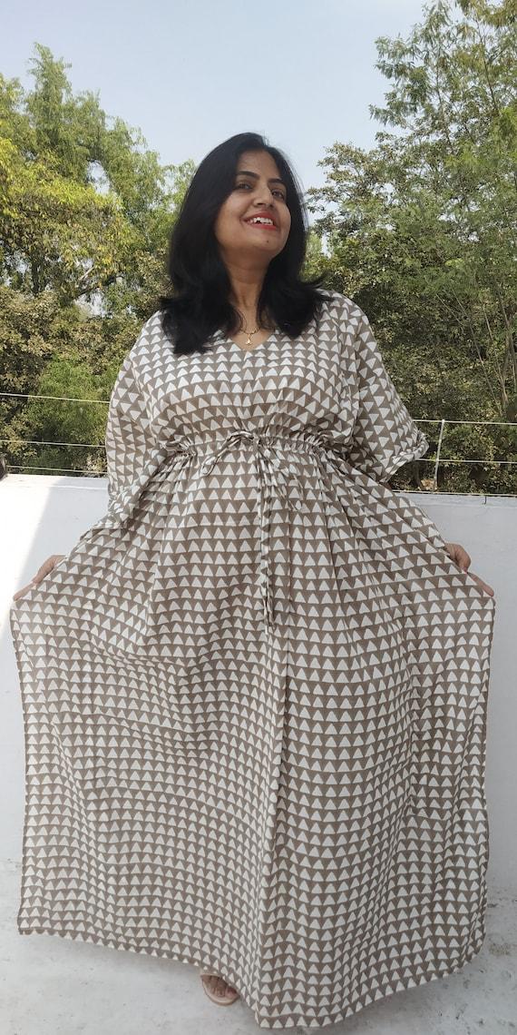 Olive kaftan Cotton Caftan Kaftan Maxi Dress Plus size | Etsy
