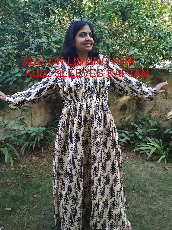 b32a182a3e ADD ON Listing for Full Sleeves Kaftan Cotton Robe Maternity