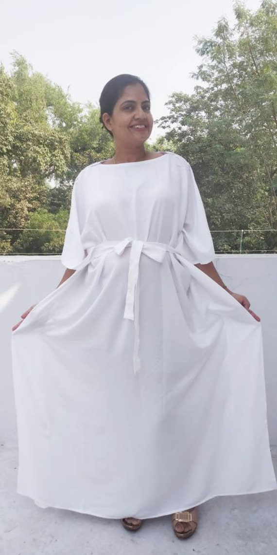 White Hospital Gown Maternity Robe Labor And Delivery Gown Etsy