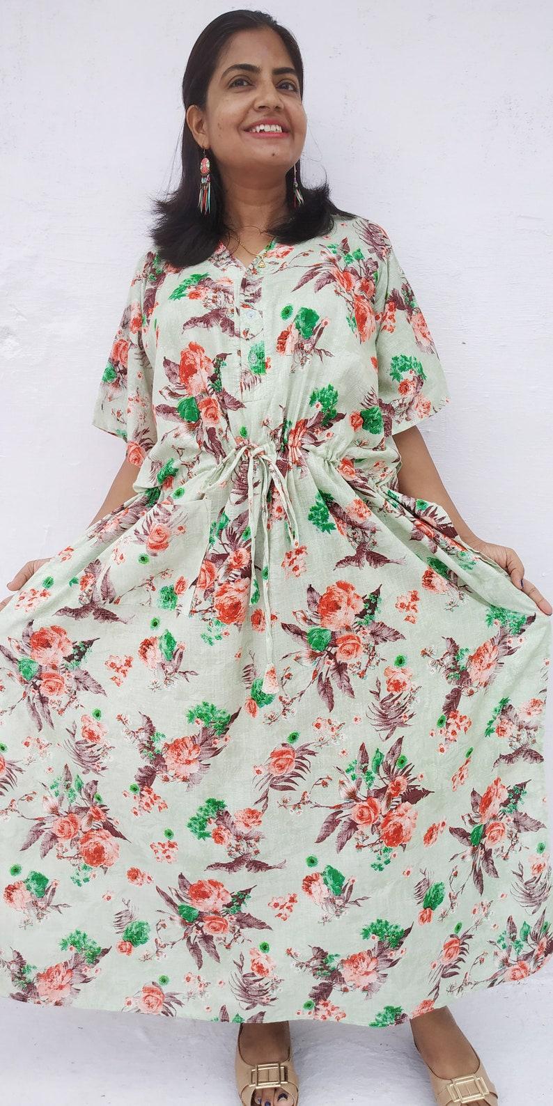 e2862d7949 Women s maternity gown hospital robe long caftan kaftan
