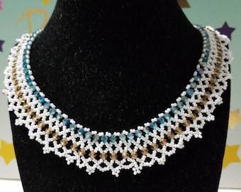 Beautiful handmade bead weaved necklace