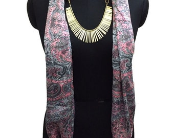 Heavy Markdown on Scarves with Necklace & Tassels now @ Dollars 25 each! Original price of Dollars 34.