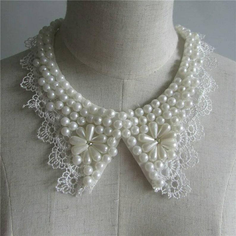 1pc Rhinestone Imitation Pearl Fake Necklace Bead Neckline  5d2a15cb500f