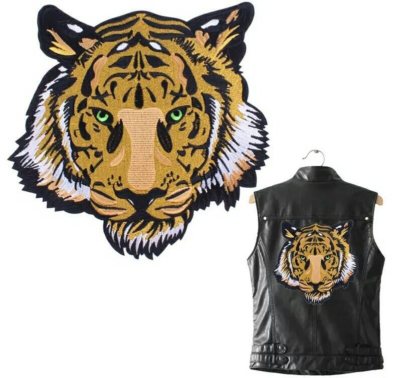 146a8751323a 1 Tiger Ironing on Stickers Heat Transfer DIY Accessory Clothes Patches  Animal Patch A-level Washable Appliques