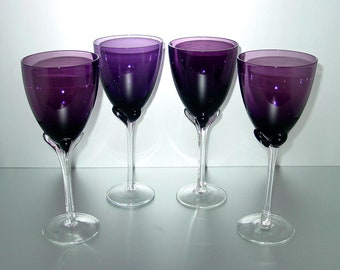 24bba13d059d Set of (4) Vintage Purple Amethyst Extra Large Goblets