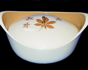 Oval Covered Vegetable Casserole Dish in Random Leaves by Taylor, Smith & T Ever Yours