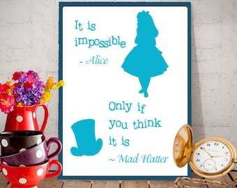 Alice in Wonderland Inspired Quote Download