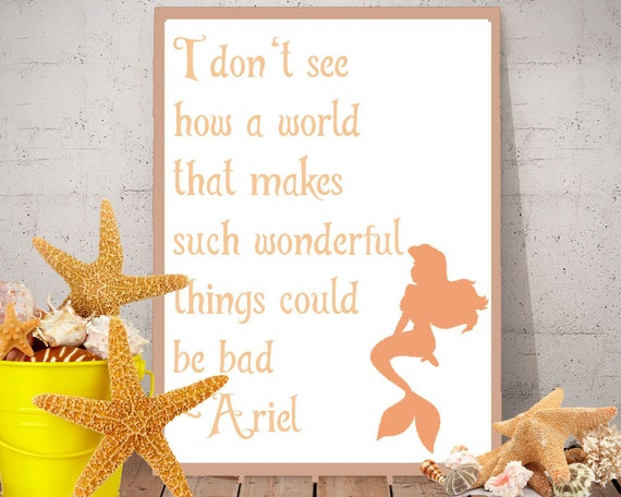 Ariel The Little Mermaid Inspired Quote Download 2 files 1 editable file  (psd) and 1 file no background (png)