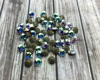 6mm Swarovski art.199 Crystal aurore boreal 216 rhinstones pedrería beads Vintage