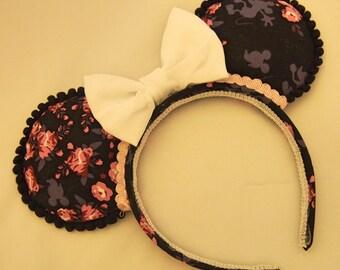 Hidden Mickey Floral Print Ears