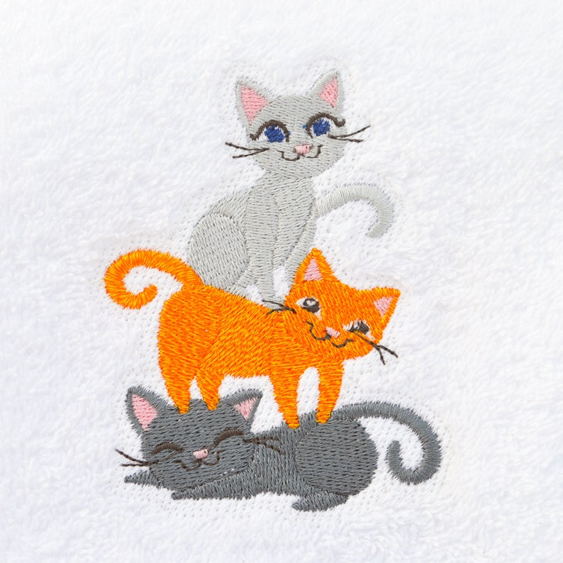 fb3e310c33303 Kitty Cat Towel, Cat Bathroom Towel, Cat Kitchen Towel, Cat Lover Gift