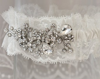 Bridal Floral and Lace Garter #122892