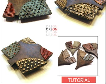 Orsons Weathered Pin Pendant in Polymer clay Tutorial Ebook Instructions in English ONLY