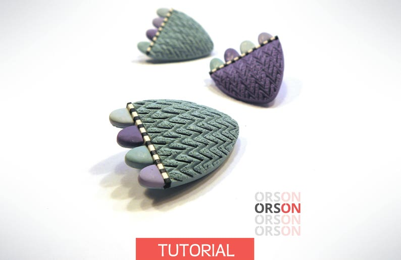 Orsons Flower textured pin polymer clay Original tutorial image 0