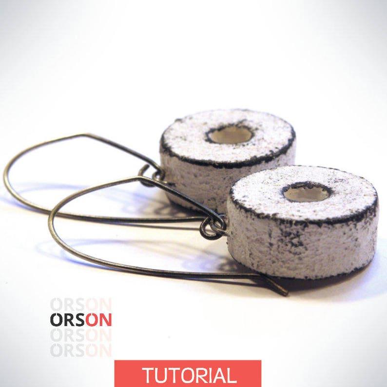 Orson's Shabby & Hollow Millstone Box Earrings Polymer image 0