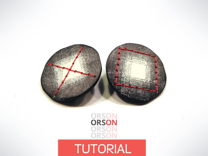 Orsons XOXO chips earrings polymer clay Original tutorial image 0