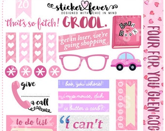 Mean Girls Planner Stickers Set for Erin Condren Vertical and more! (#20)