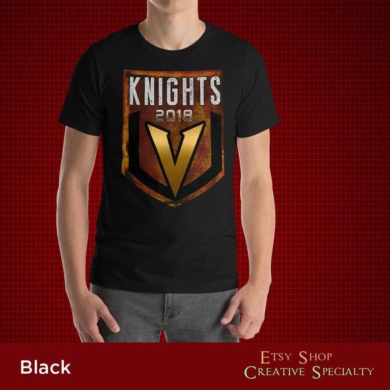 the latest 817b4 28d21 Vegas Golden Knights Short-Sleeve Unisex T-Shirt VGK 2018 Las Vegas Hockey  Team Las Vegas Knights Stanley Cup 2018