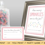 Sprinkle How Many Sprinkles Game // Baby Shower Game // Baby Shower Activity // Baby Sprinkle Game // Guess How Many Sprinkles Game // BS19