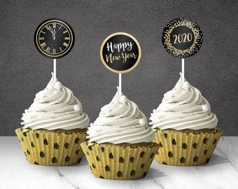 Happy New Year Twenty 20 New Year/'s Eve Cake Topper New Years Eve Decor