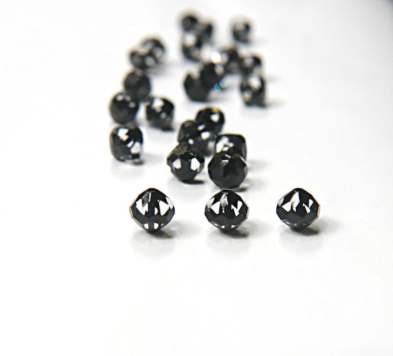 12mm Vintage Swarovski crystal beads Cosmojet clear faceted  19215eca9af8