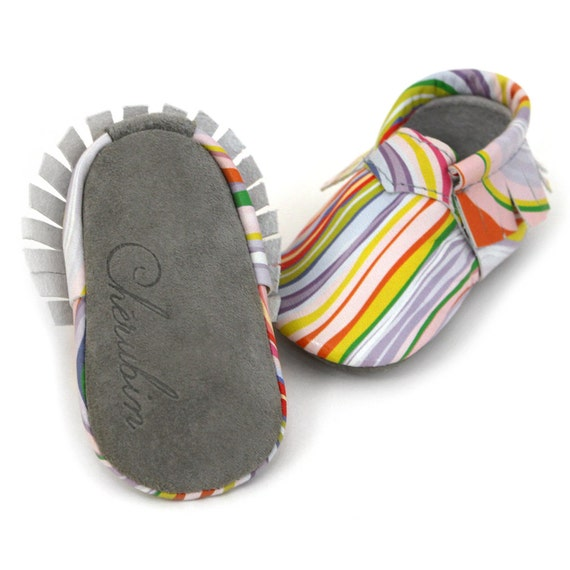 /• 100/% American Leather Moccasins for Babies /& Toddlers /• Made in US Marbleous