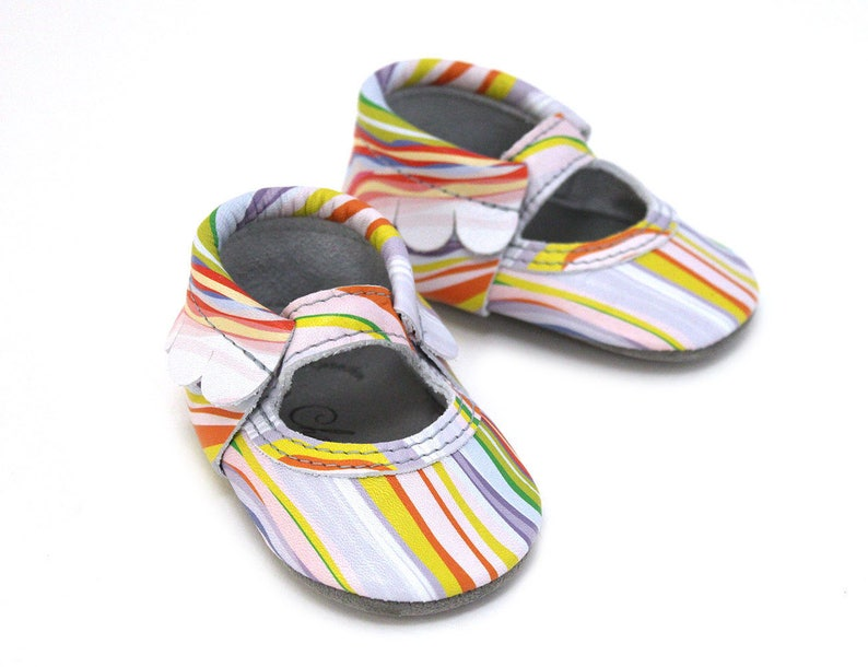 American Flag Patriotic USA 4th of July 100/% American Leather Moccasins for Babies /& Toddlers Made in US