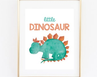 Dinosaur Nursery Printable, Animal Sign, 8x10 Instant Download,Wall Art Sign, Nursery Decor, Cute Nursery Printable Sign,print