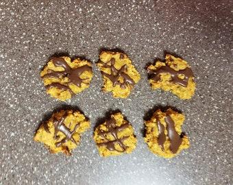 Sweet Potato Banana Peanut Butter Dog Cookies - All Natural - Gluten Free