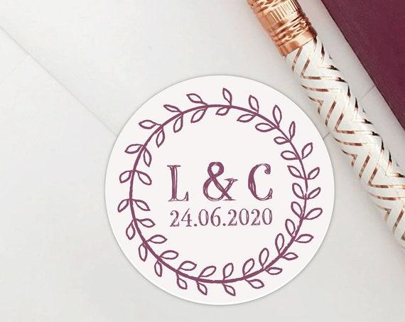 Custom sticker labels, Wedding stickers for favors, Wedding favors for guests, Personalised stickers wedding, Wedding favor sticker, Rustic