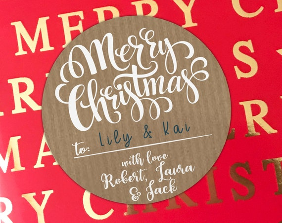 Custom Christmas labels stickers for christmas gifts,  Custom labels for christmas stickers custom, Merry Christmas tags personalised