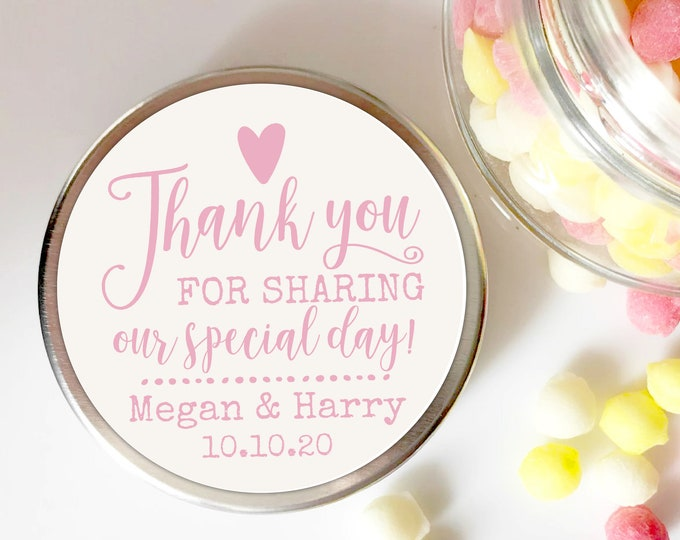 Thank you stickers, Custom labels by Blooms
