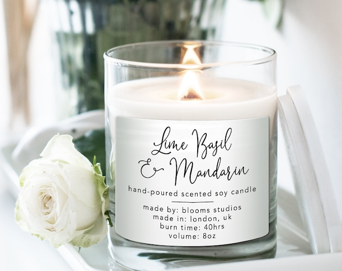 Candle label design candle branding candle sticker labels, Homemade candle product label, Candle custom labels, Personalized candle label